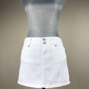 Gap White Stretch Denim Mini Skirt Size 1 Junior